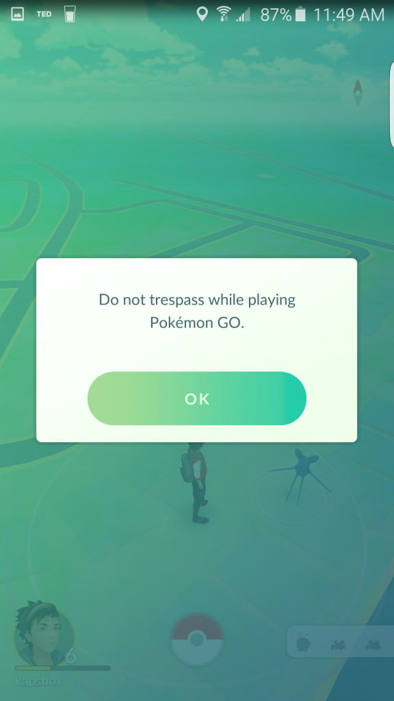 pokemon warning- tresspassing